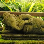 Ganesha - the god of happiness with the...