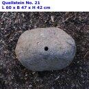 Quellstein 50-60 cm, Findling aus Flussstein