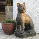 Katze, H 45 cm, schwarz anitk