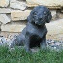 Welpe, H 40 cm, schwarz antik