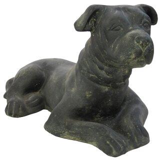 Lying dog, L 55 cm, black antique