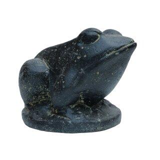 Frosch, 17 cm, schwarz antik