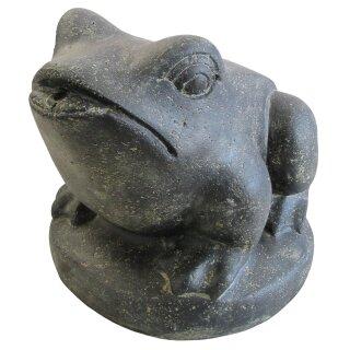 Frosch als Wasserspiel, verschiedene Größen H 22 - 33 cm, schwarz antik