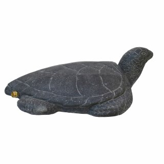 Wasserschildkröte als Wasserspiel, L 50 cm, schwarz antik