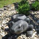 Komodowaran, L 64 cm, schwarz antik