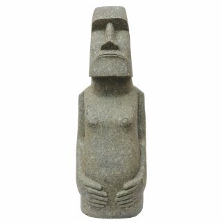 Moai, Easter Island Head with body, H 100 cm, hand carved from basanite