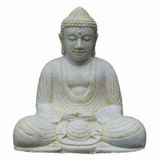 "Sitting Buddha ""Japan"", H 41 cm, white antique"