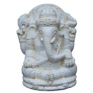 """Sitting Ganesha """"Lotus"""", H 30 cm, in black antique or white antique"""