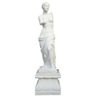 """Steinfigur """"Venus von Milo"""" mit Sockel, H 170 cm, weiß"""