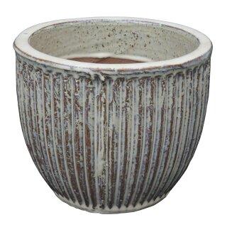 Planter flowerpot Linea, various sizes, in sand color glazed, frostproof