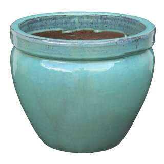 Planter flowerpot Paeonia, various sizes, in seladon color glazed, frostproof