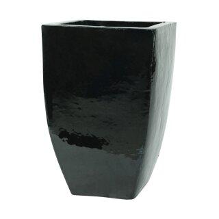 Planter flowerpot Pitaya, various sizes, in black glazed, frostproof