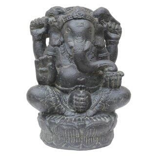 Sitzender Ganesha, H 40 cm, in schwarz antik oder weiß antik