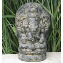 Sitting Ganesha, H 27 cm, in black antique or white antique