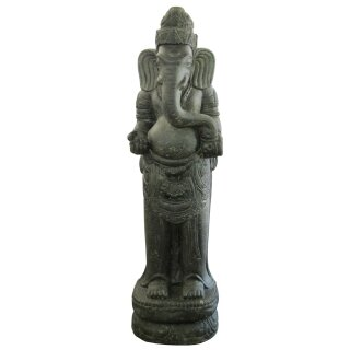 Standing Ganesha, H 150 cm, black antique