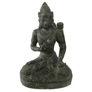 Sitting Dewi Tara, H 71 cm, black antique