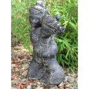 Rama & Sita Torso, H 40 cm, black antique