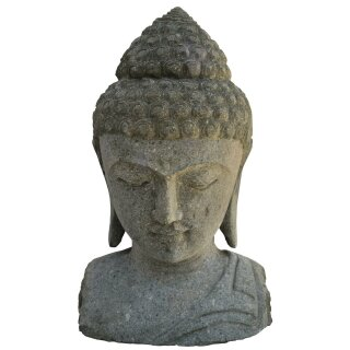 Buddha-head / bust, various sizes 30 - 120 cm, hand carved from basanite