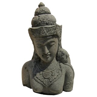 Shiva bust, H 80 cm, hand carved from basanite