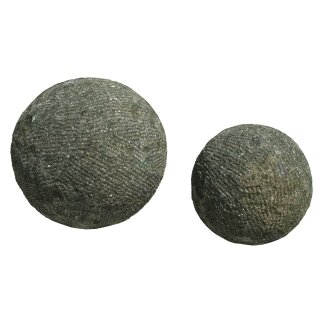 Stone ball, various sizes Ø 20 - 30 cm, picked surface, hand carved from basanite