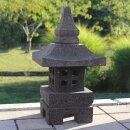 "Japanese stone lantern ""Nara"", H 42 cm, hand carved from grey lava stone (andesite)"