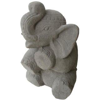 Sitzender Elefant, H 50 cm, in Betonoptik oder weiß
