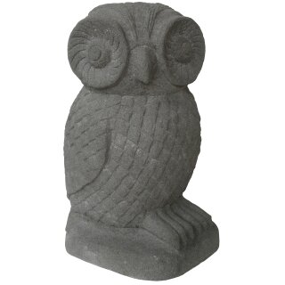 Stone owl, H 50 cm, natural concrete finishing