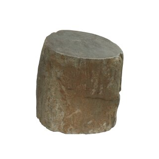 Stone seat / stone stool, H 40 cm, hand carved from riverstone