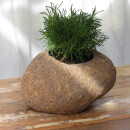 Stone flower-pot, various sizes, Ø 10 - 25 cm, hand carved from riverstone