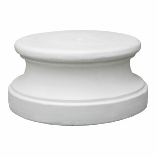 """Sockel / Podest """"Marte"""", rund, H 32 cm, weiß"""