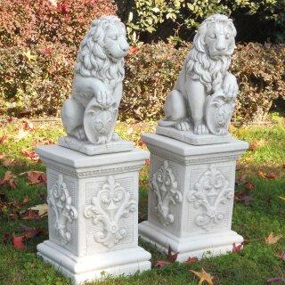 Löwe mit Schild, H 40 cm, verschiedene Farben, Schild, Blick links / rechts