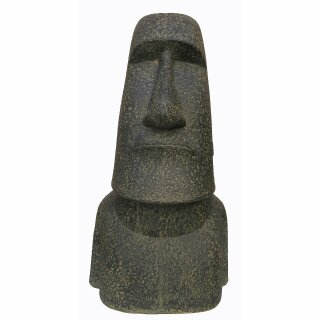 Moai, Easter Island Head, various sizes H 20 - 200 cm, black antique