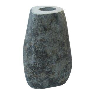 Sockel / Fuß für Vogelbad, Steinmetzarbeit aus Flussstein