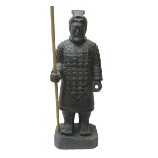 Standing Chinese warrior, H 100 cm