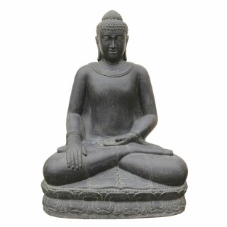 "Sitting Buddha ""earth"", various sizes H 100 - 150 cm, black antique"